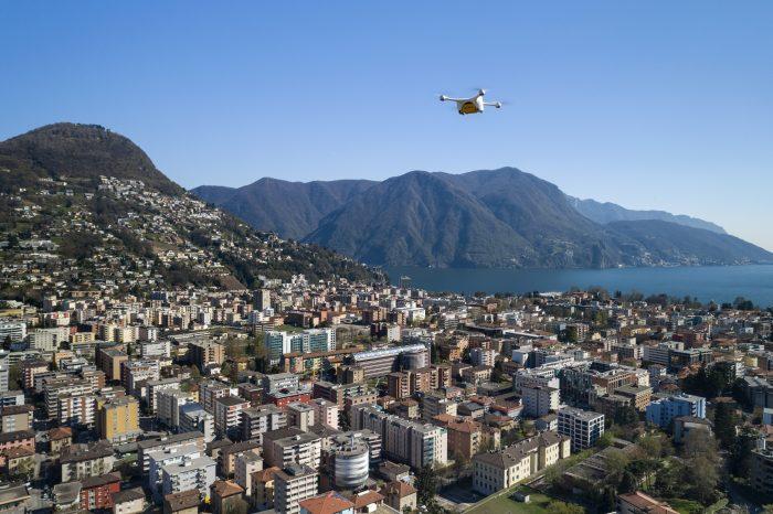Drohnenflug über Lugano