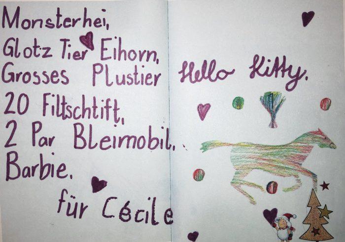 Quelle: Museum für Kommunikation, Bern sowie «Briefe ans Christkind», Appllausverlag