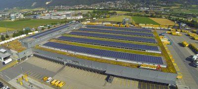 Die Sonne funzte im 2018 einen Rekord in die Solarpanels der Post
