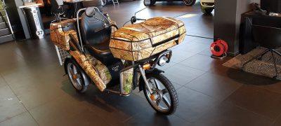 Partie de chasse en tricycle électrique