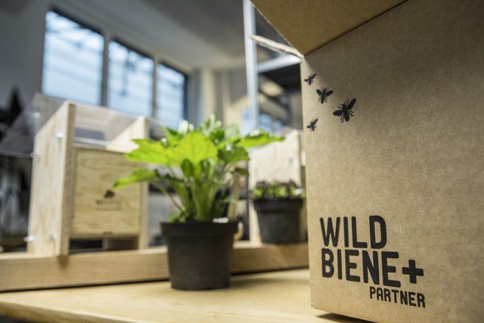 Non hai ancora un hotel delle api? Wildbiene + Partner propongono anche questo nella loro offerta, e naturalmente, anche il ricovero artificiale viene consegnato dal postino.