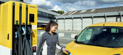 Elektrische Lieferwagen für die Paket- und Briefzustellung