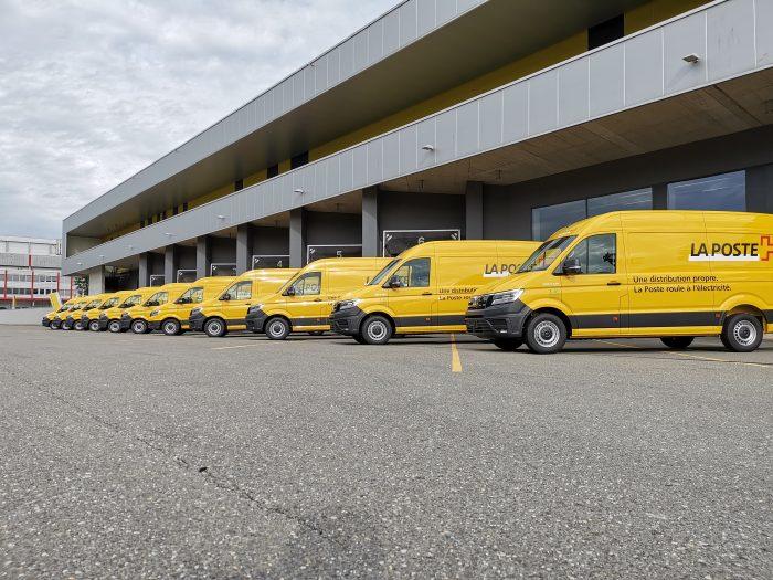 Und so sehen sie aus: Solche MAN E-Transporter könnten demnächst Ihren Weg kreuzen. Das Ladevolumen: 10,7 m3; Gewicht: 3.5 Tonnen; Nutzlast: ca. 950 kg; CO2-Einsparung bei einer jährlichen Laufleistung von 35 000 Kilometern: ca. 7,5 Tonnen. | Bild: Toni MilelliU/Post AG