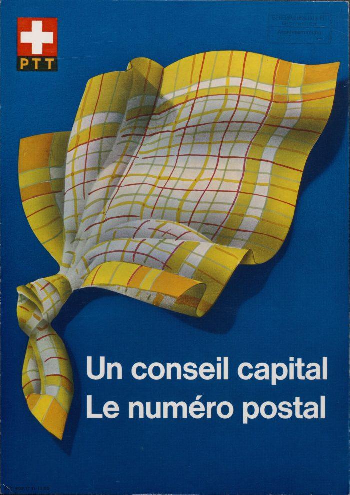 «Jedesmal Postleitzahl» war der Slogan der damaligen PTT, als sie die Postleitzahl einführte. | Bilder: PTT-Archiv