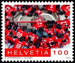 Hier spiegelt sich das Eis: Sondermarke Eishockey-Weltmeisterschaft 2009. | Sujet von Susanne Krieg.