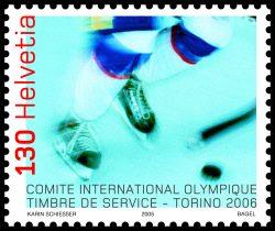 Exklusiv fürs Olympische Internationale Komitee gedruckt: Die Dienstmarke 2006 durfte nur vom OIK verwendet werden. I Sujet von Karin Fanger Schiesser.