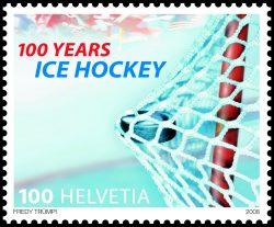 Exklusiv fürs Olympische Internationale Komitee gedruckt: Die Dienstmarke 2006 durfte nur vom OIK verwendet werden. | Sujet von Karin Fanger Schiesser.
