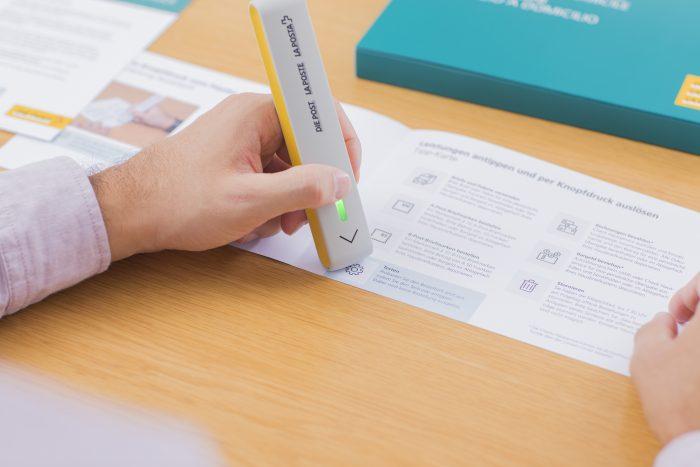 Einfacher geht nicht: Ein Kunde bestellt eine Dienstleistung per Knopfdruck.