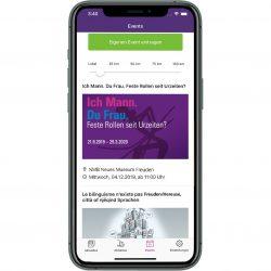 Die Events in der jeweiligen Gemeinde-App der Post auf einen Blick. Die Tickets zum Jodlerabend oder Dorftheater können nach Wunsch gleich mit reserviert und bezahlt werden.