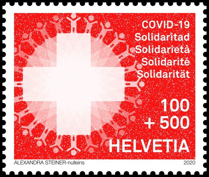 Plus de 500 000 de ces petits symboles de solidarité rouges ont voyagé sur les enveloppes à travers la Suisse, témoignant de la cohésion de Genève à Coire et de Chiasso à Bâle.