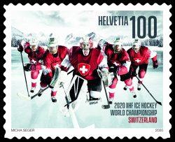 Wird uns noch lange an Corona erinnern: die Marke zur Eishockey-WM 2020, die nie stattfand. Wertsteigernd ist dieser Umstand aber nicht. | Copyright Bilder: Die Schweizerische Post
