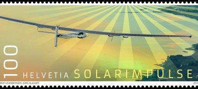 Das Wetter war schuld: die Marke für die «Solar Impulse 2» mit falschem Ausgabejahr