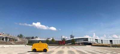 Ein Zmittag geliefert vom autonomen Lieferfahrzeug an der ETH Lausanne