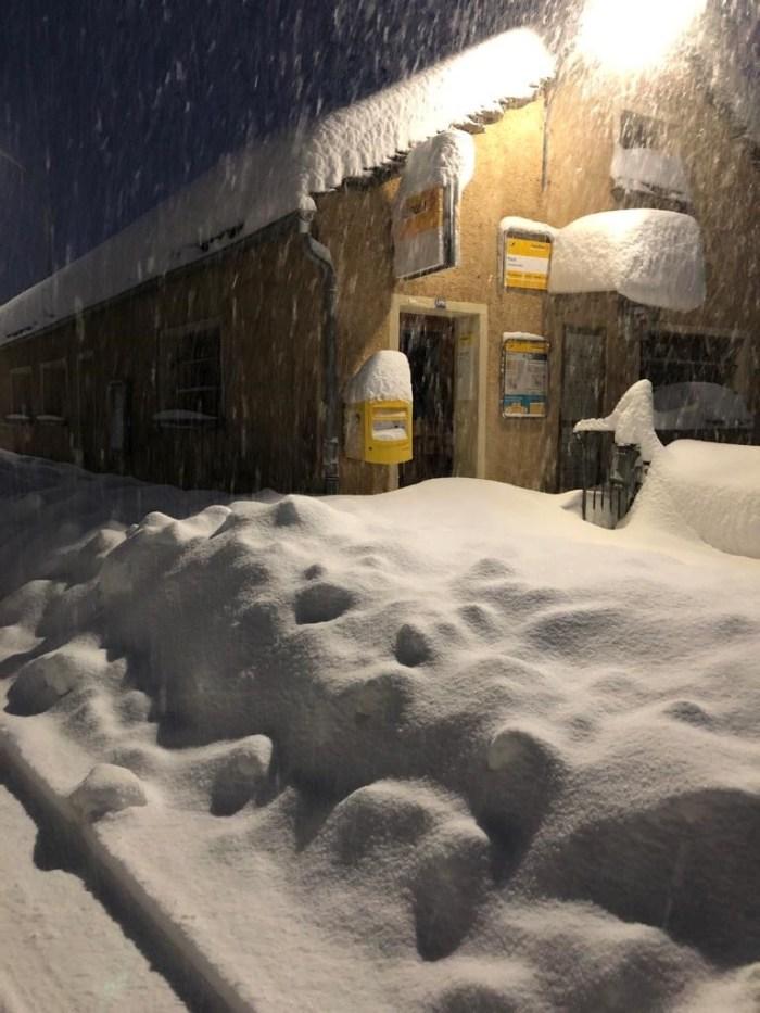 So sah es gestern Nach in Simplon-Dorf aus