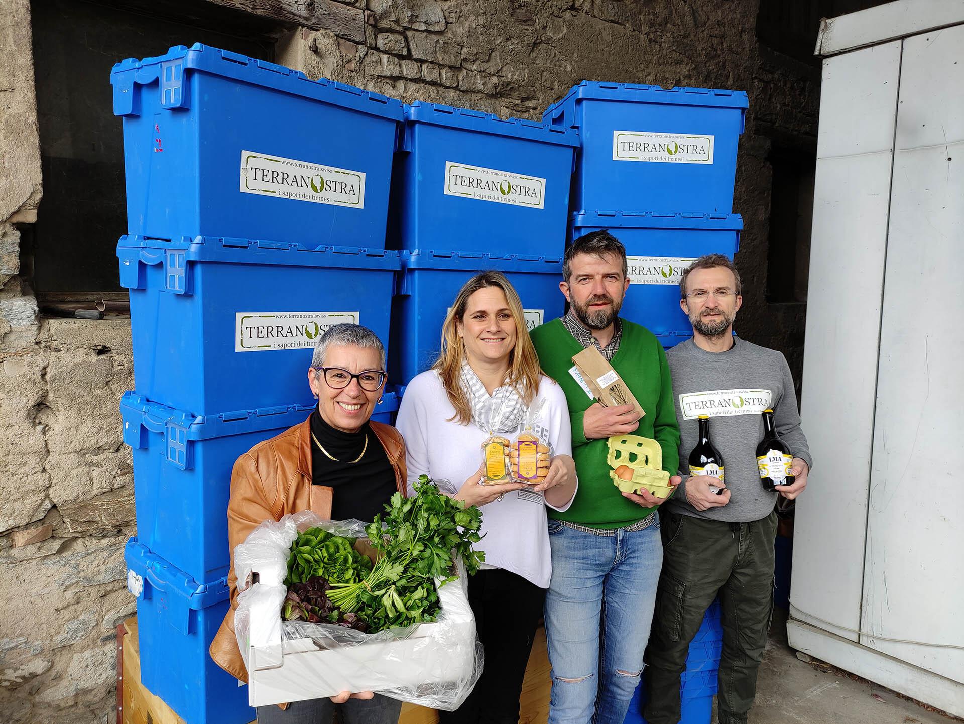 La squadra Terranostra: Cristina Masciorini, Daniela Terrani, Claudio Ghiringhelli e Gabriele Minidi